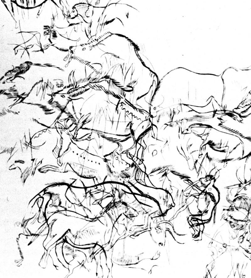 Trois Freres sanctuary, sketch by Abbe Breuel, _800